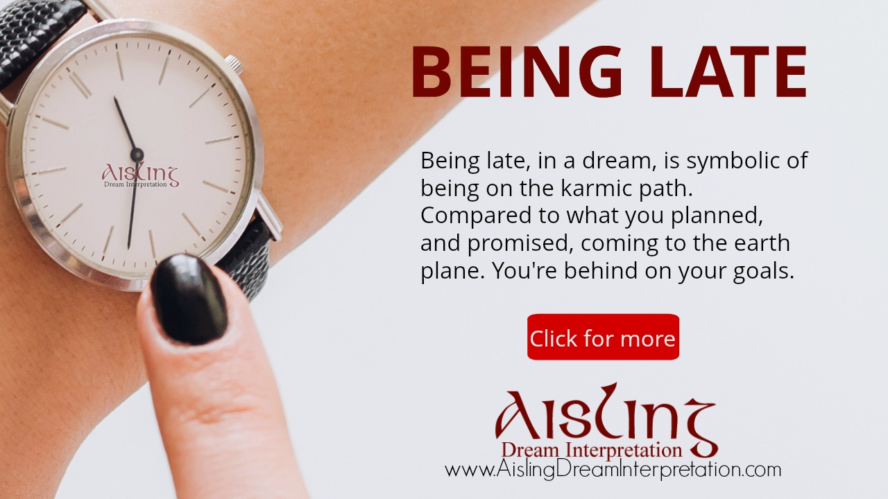 Being Late in a Dream